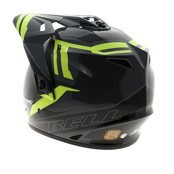 Bell Dual Sport Helmet >> Bell Mx 9 Adventure Barricade Hi Vis Helmet Xtremehelmets Com
