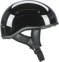 Fly Racing .357 Solid Half Helmet Gloss Black