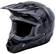 Fly Racing Kinetic Burnish Helmet Grey/Black