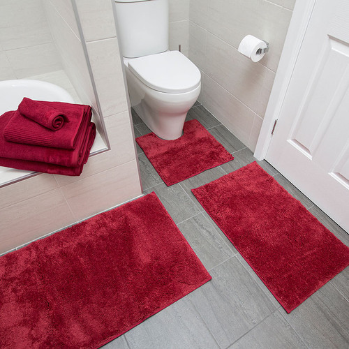 Bambury Bath Mats Microplush Bath Raspberry Bath Runner