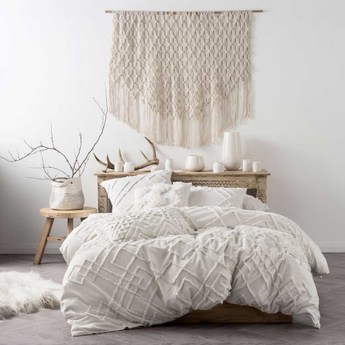 King Bed Sanura White Quilt Cover Amp Pillowcase Set By