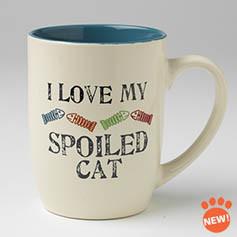 Petrageous I Love My Spoiled Cat Mug 24 oz.