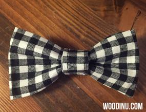 Black & White Plaid Bow Tie