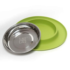 Messy Cats Silicone Feeder Green