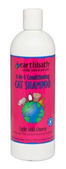 Earthbath 2-in-1 Conditioning Cat Shampoo Light Wild Cherry 16 oz.