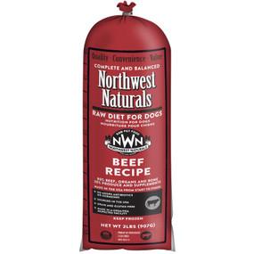 Northwest Naturals Frozen Raw Dog Food Beef Recipe Chub 2 lbs.