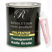 Revolution 1 Quart Solid Transparent Polyester Solid Glue For Granite And Stone
