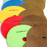 7 Inch Diamond Polishing Pads Wet or Dry Granite Concrete Marble Tile Stone