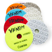 Venom Quick Steps set 3 step set with 1 of each -Coarse and High gloss