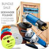 Bundle 3 Sidewinder Air polishers with a set of Venom quick sets (5)