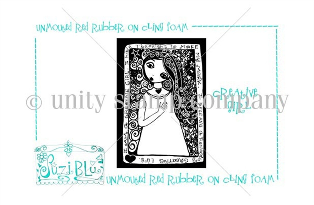 Creative Girl-Exclusive Stamp by Suzi Blu
