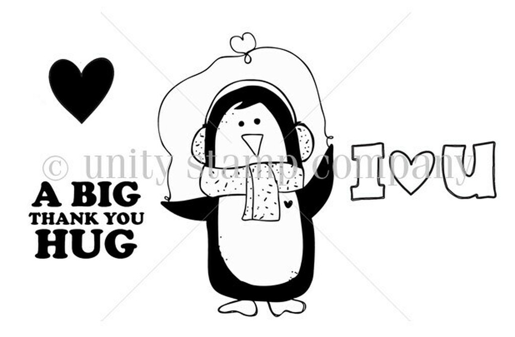 {little hands} Big Thank You Hug Penguin