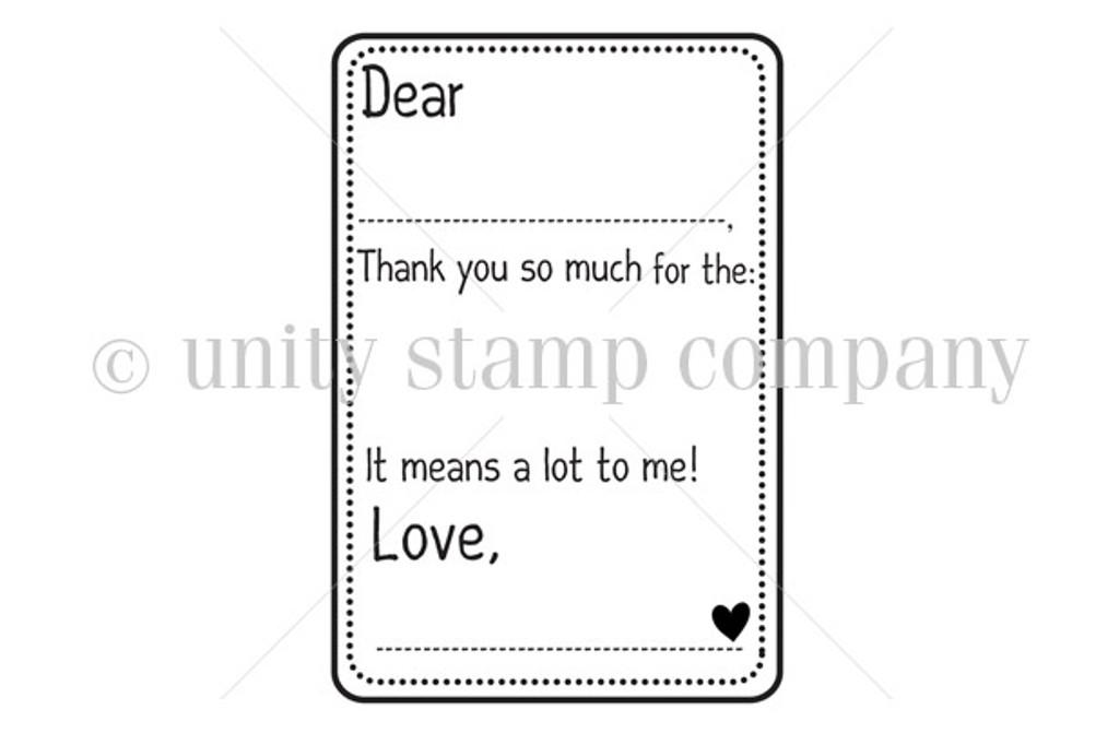 {little hands} Thank You Card