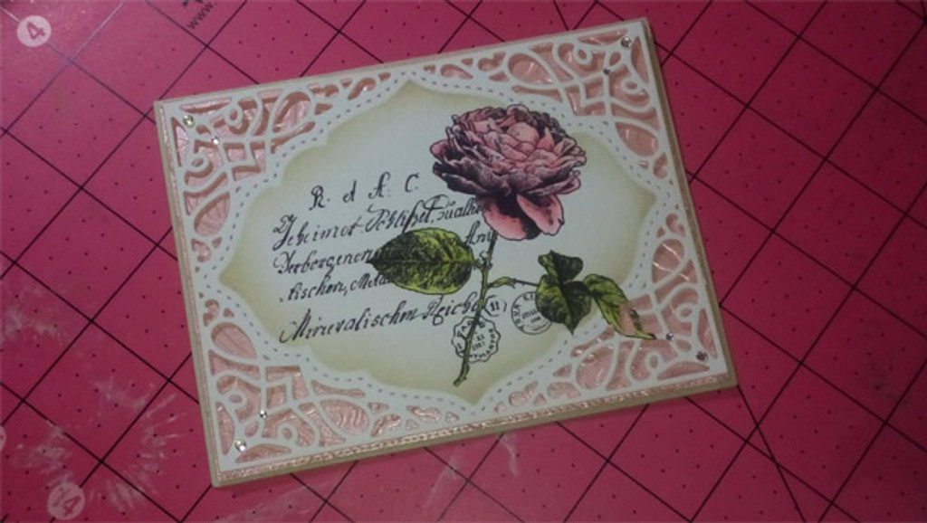 Roses & Prayers {floral collage}
