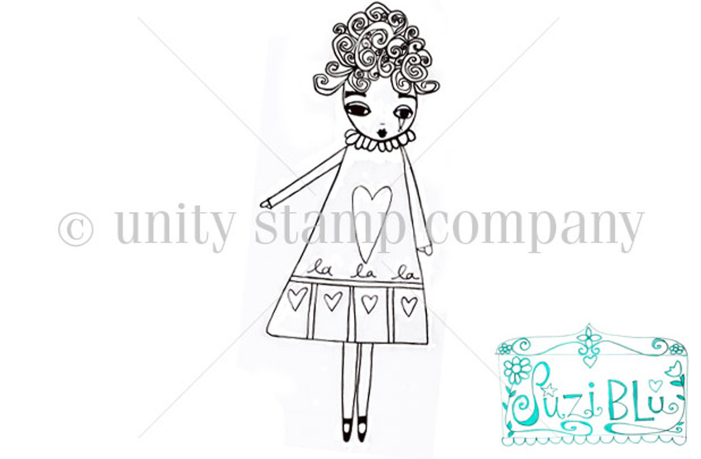 LaLaLa Girl-Exclusive Stamp by Suzi Blu