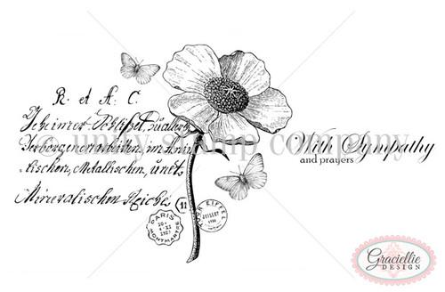 Pansies & Sympathies {floral collage}