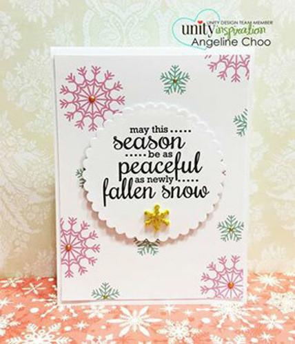 Like a Snowflake {december 2014 sentiment kit}