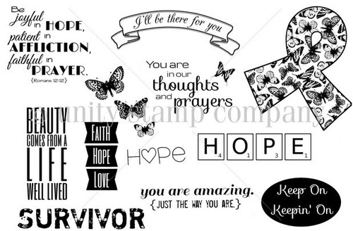 All About Hope {may 2013 sentiment kit}