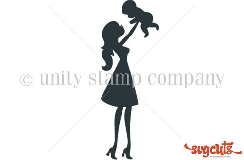 Baby and Me - Kate's Silhouettes