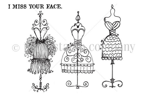 I Miss Your Face {dressforms}