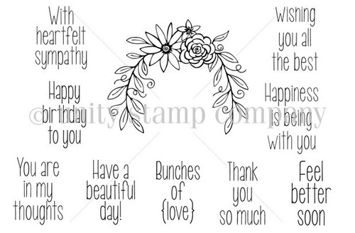 Bunches of {love} {february 2014 sentiment kit}