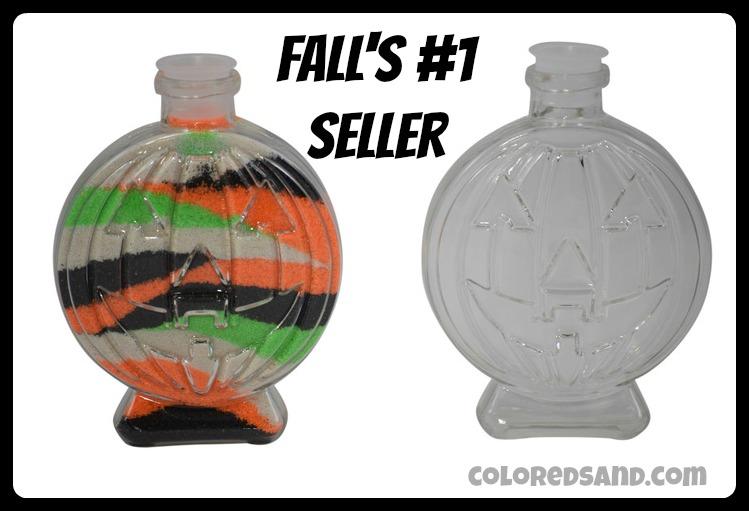 Pumpkin sand art bottles