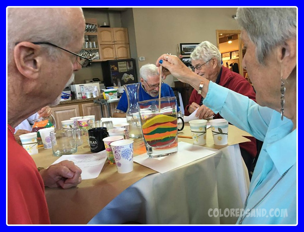 sand art creation fox valley memory project