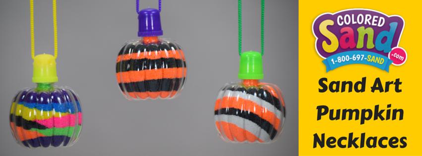 Sand art pumpkin necklaces
