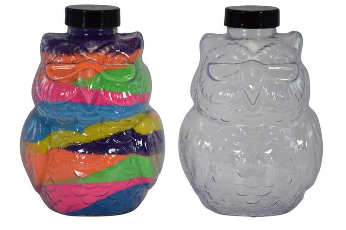 Sand Art Owl Bottle