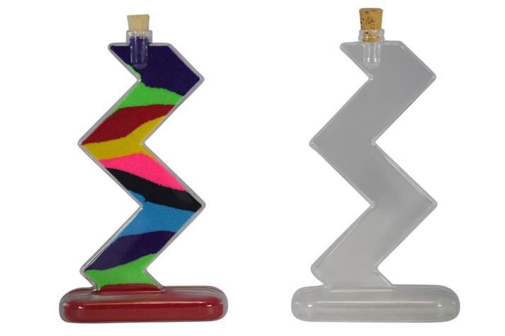 Plastic Sand Art Zig Zag Bottle Kit