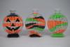 Pumpkin sand art bottles.
