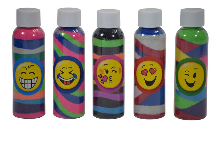 Emoji sand art bottle kit