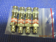 SET OF FOUR (4) - New 3dB Attenuator BNC Connector 50 Ohm 1/2 watt