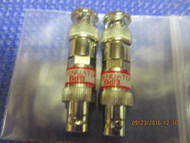 SET OF TWO (2)-New 6dB Attenuator BNC Connector 50 Ohm 1/2 watt