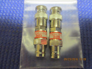 SET OF TWO (2) - New 3dB Attenuator BNC Connector 50 Ohm 1/2 watt