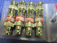SET OF FOUR (4) - New 6dB Attenuator BNC Connector 50 Ohm 1/2 watt