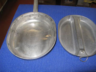 VINTAGE STAINLESS STEEL MESS KIT US CARROLTON 1965 DSA-4-055580-TR530 item #1