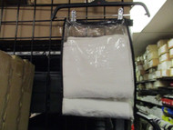 "LOT OF 6 Clear Vinyl Storage bags w/ BLACK ZIPPER & TRIM 10"" X 13""X 2.5"""