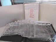 "LOT OF 12-NEW Clear Vinyl Storage bags-w/ WHITE ZIPPER/TRIM 9"" x 11""X 1.5"""