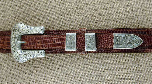 The Calvert Sterling Silver 4PC Buckle Set