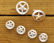 Domed Silver Star Set