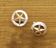 Domed Rim Gold Star
