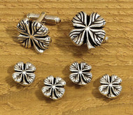 Shamrock Cufflinks & Studs Set