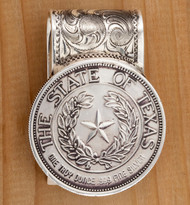 Texas State Seal Coin Money Clip