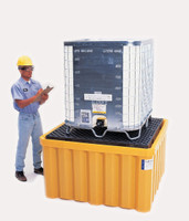 UltraTech IBC Spill Containment Pallet With Drain - 1058