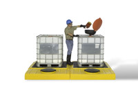 UltraTech IBC Spill Pallets Modular 1125 - 2 Tank, Indoor Model