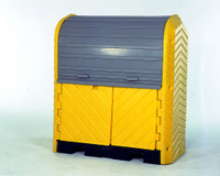Ultra Hard Top P2 Plus Spill Pallet 2 Drum Storage - With Drain