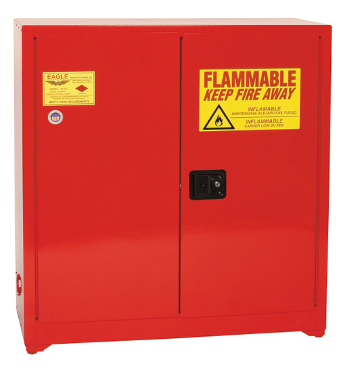 Eagle 1964 Bench Top Flammable Safety Cabinet - Manual Close