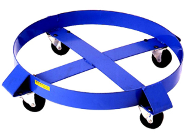 Morse 14 Round Dolly for 55 Gallon Drum, Steel Casters