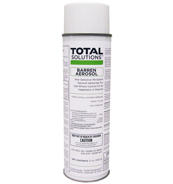 Barren Aerosol Weed Killer - Total Kill Soil Sterilant 12 Cans/Case